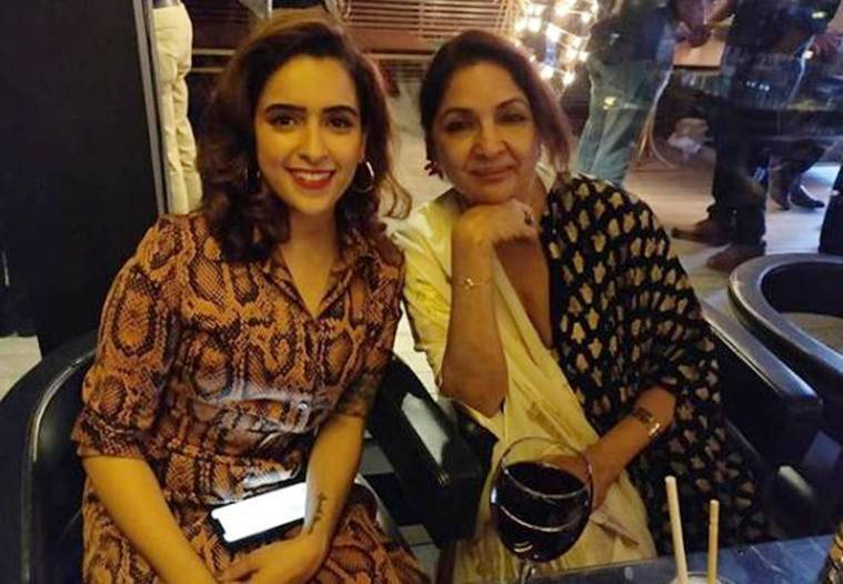 Neena Gupta and Sanya Malhotra at Badhaai Ho success bash