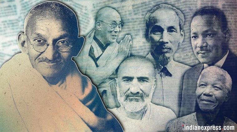 Mahatma Gandhi, Gandhi, Gandhi Jayanty, Gandhi birth anniversary, Gandhi 150th anniversary, Gandhi influence on world leaders, Martin Luther King, Nelson Mandela, Ho Chi Minh, Dalai Lama, Abdul Gaffar Khan, Gandhi news, Indian Express