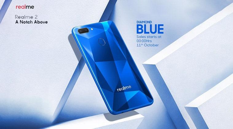 Realme, Realme 2, Realme 2 Pro, Flipkart sale, Flipkart Big Billion Days sale, Realme C1, Realme 2 diamond blue edition, realme 2 diamond blue sale