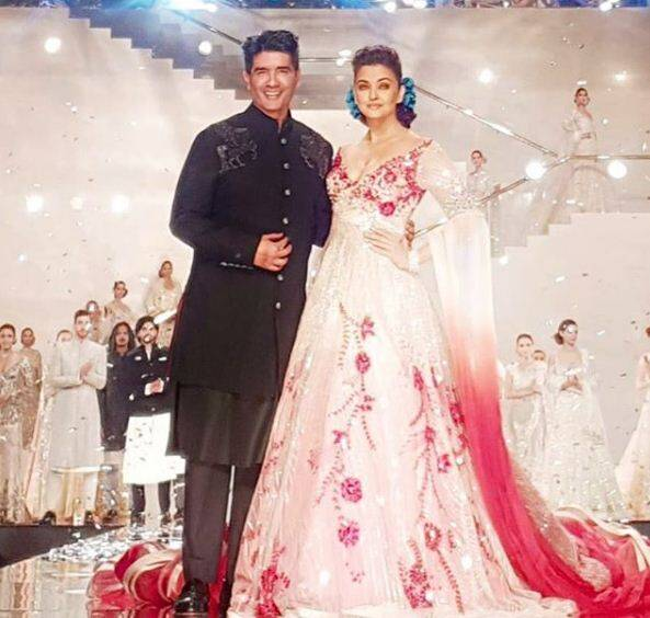 Manish Malhotra with Aishwarya Rai.