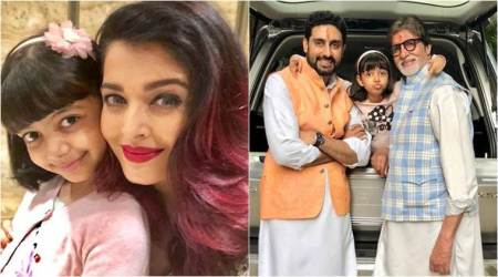 Aishwarya Rai shares adorable photos of Aaradhya with Big B and Abhishek