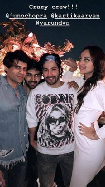 sonakshi sinha at aayush sharma birthday party
