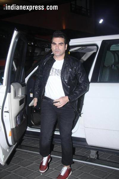 arbaaz khan at aayush's party