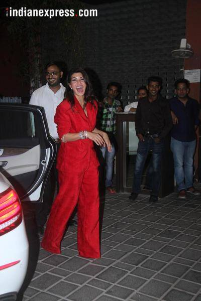 jacqueline fernandez at aayush sharma birthday party
