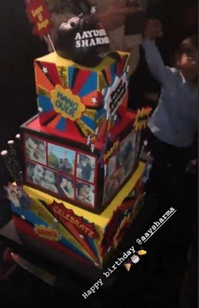 Aayush Sharma's birthday cake