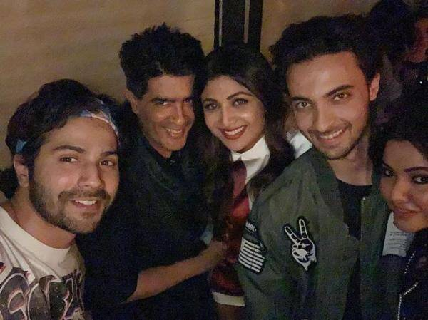 shilpa shetty at aayush sharma birthday party