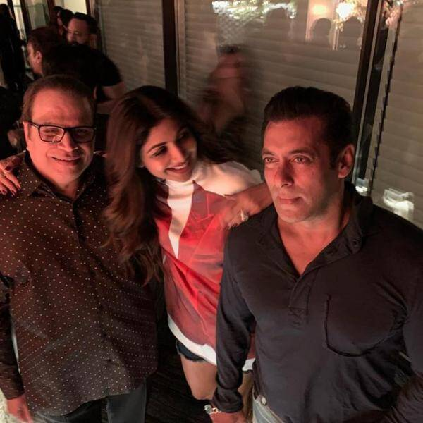 shilpa shetty, salman khan at aayush sharma birthday party