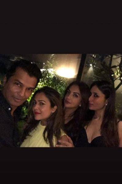 amrita arora, kareena kapoor at aayush sharma's party