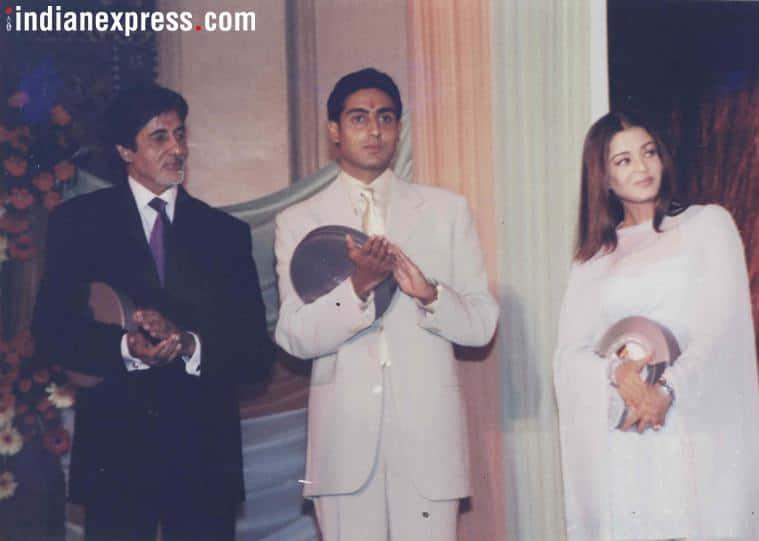 aishwarya rai with amitabh bachchan and abhishek bachchan
