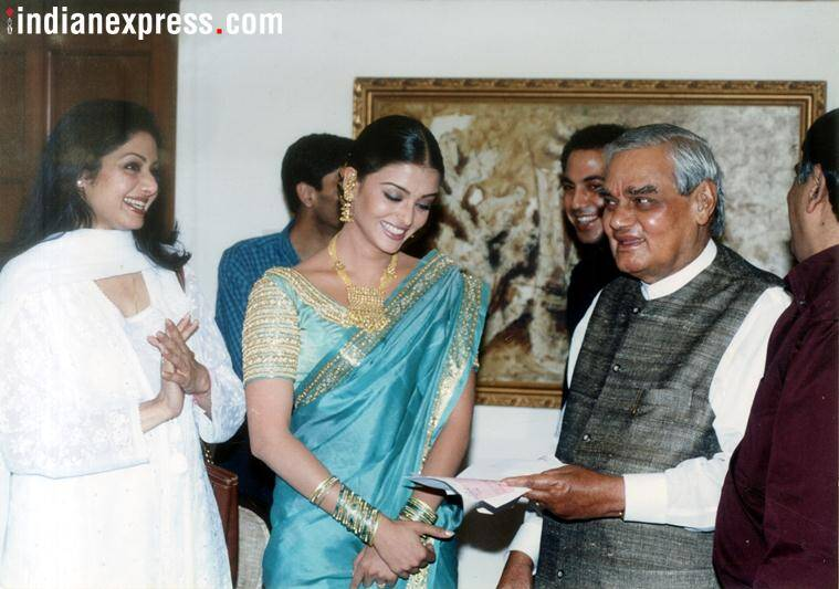 aishwarya rai with sridevi and atal bihari vajpayee