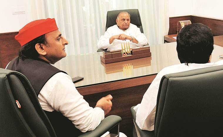 Mulayam singh yadav, shivpal yadav , akhilesh yadav, mayawati, sp, bsp, up politics, family politics, up news, indian express
