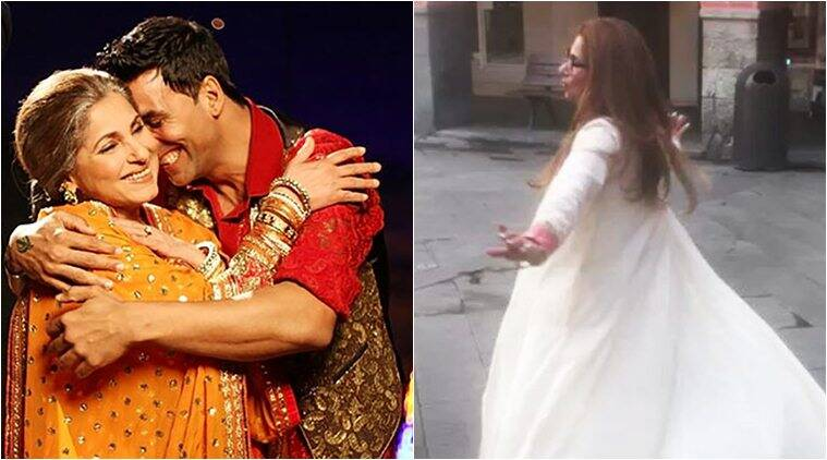 akshay kumar shares a video of dimple kapadia