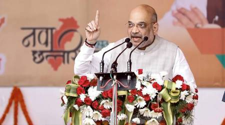 Congress colluded with Naxals to stay in power in Chhattisgarh: Amit Shah