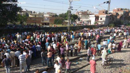Amritsar train accident, Train accident in Amritsar, Punjab train accident, Amritsar accident photos, amritsar train accident photos, amritsar tragedy photos, amritsar mishap photos, amritsar train accident on dussehra, Indian express