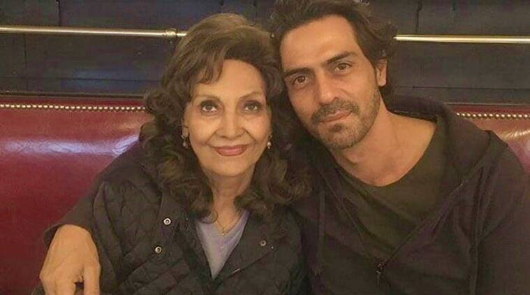arjun rampal and his mother gwen