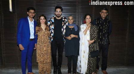 Badhaai Ho success bash ayushmann khurrana, sanya malhotra, neena gupta photos