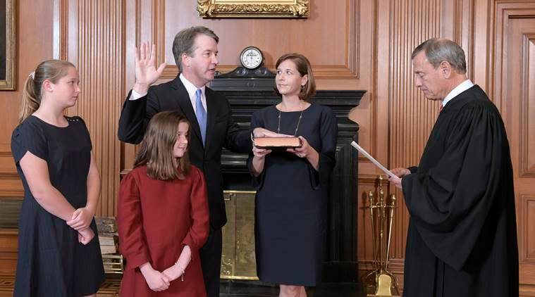 Kavanaugh sworn in _again _ at White House event