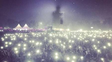 This photo from Bryan Adams' concert may just highlight how bad Delhi's pollution is