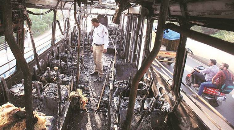 Pune: PMPML bus goes up in flames, 17th bus to catch fire in two years