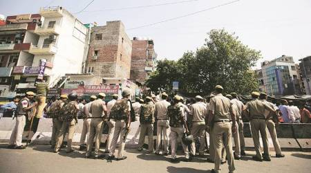 Delhi: Protests after man's murder in front of kids in Taimoor Nagarvillage