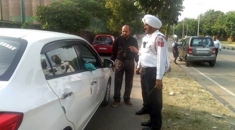 Chandigarh: Parked on main road, cycle track, 30 vehicles challaned, 11 towed away