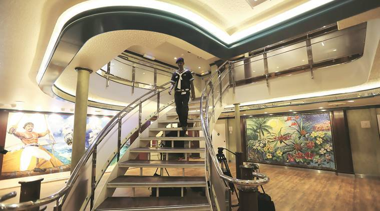 mumbai cruiseliner, first cruisliner, india first cruiseliner, indian express, nitin gadkari, Captain Irwin Sequeira, latest news