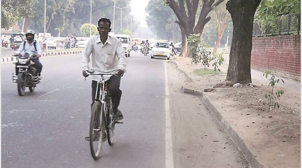 25 km of cycle tracks in Gurgaon this month