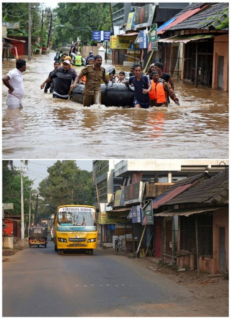 Photos: Before and after Kerala floods - This is how the state is getting back on its feet