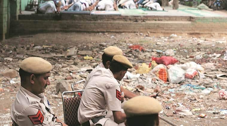 8-year-old death, beaten to death, death outside madrasa, minors beaten up, communal unrest, Malviya Nagar death, crime news, indian express news,
