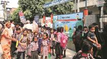 Delhi: Sections no longer based on religion, friends reunite at Wazirabad school