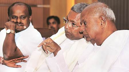 Congress jds alliance, deve gowda, rahul gandhi, siddaramaiah, karnataka alliance, lok sabha pols, lok sabha poll alliance, indian express