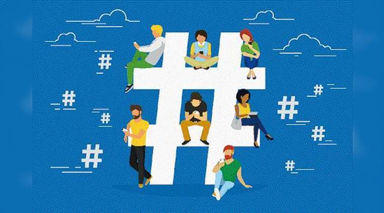 how to create hashtag image