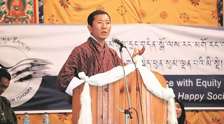 lotay tshering, lotay tshering india visit, Bhutan PM India visit, india bhutan relations, lotay tshering bhutan prime minister, indian express