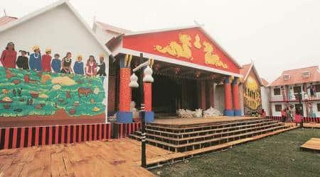 West Bengal: Yunnan comes alive in a Kolkata Durga Pujapandal