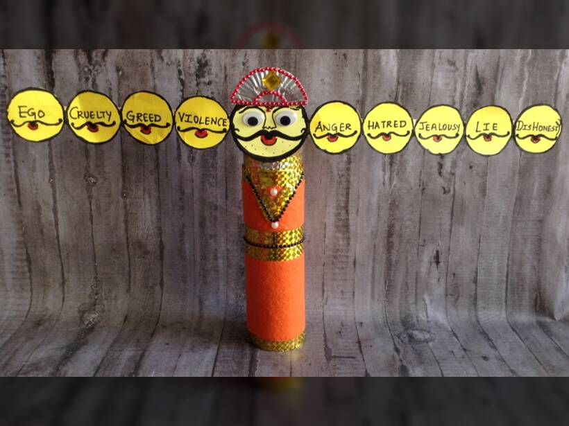 Diy Craft Make A Ravana This Dussehra Parenting News The Indian Express