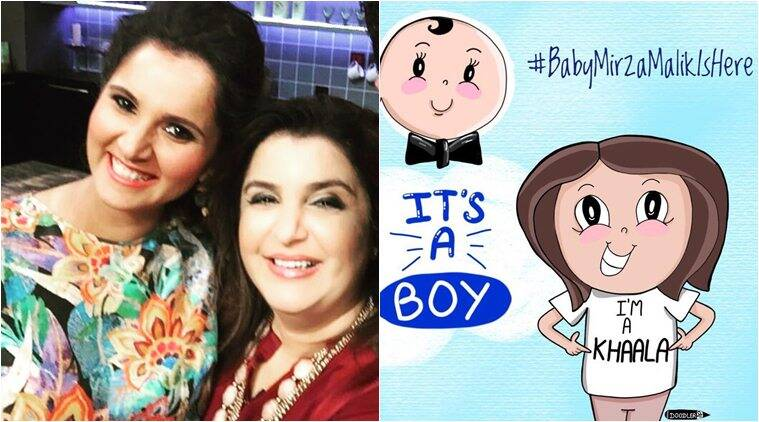 Sania Mirza Blessed With A Baby Boy Farah Khan Becomes A Khaala