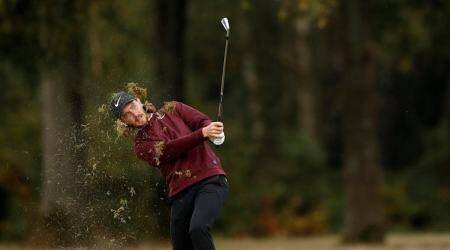 Tommy Fleetwood hits monster drive en route to share of British Masters lead
