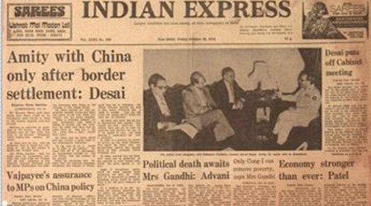 morarji desai, indira gandhi, advani indira, india china, indian express, forty years ago