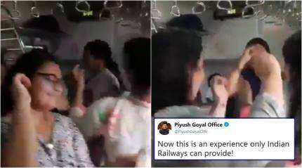 Watch: Women dance Garba in Mumbai train, Railway Minister Piyush Goyal makes it go viral