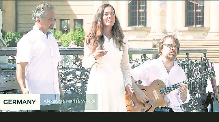 Gandhi Jayanti, Gandhiji's birthday, Mahatma Gandhi birth anniversary, tribute to Gandhi, 150th birthday, tribute from the world artists, world musicians, world music, music video, Ministry of External Affairs, Indian Express