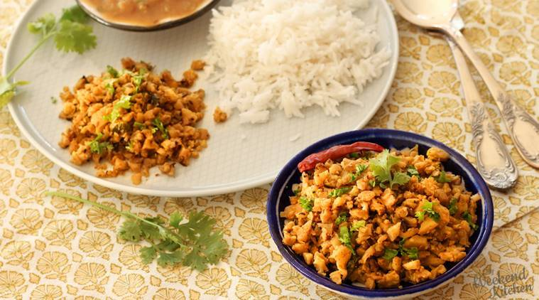 Ghuti Gobhi, gobhi bhurji, scrambled cauliflower, bhurji recipes, sandwhich, paratha rolls, Cauliflower, potatoes, aloo-gobi, roasted cauliflower, indian express, indian express news