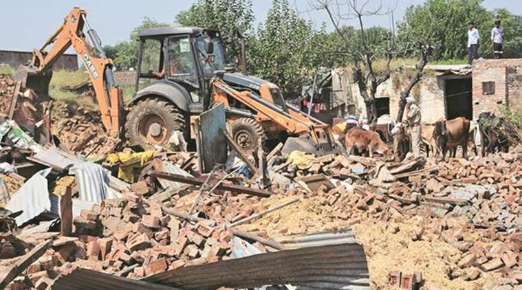 demolition waste in delhi, delhi pollution, wastes collected in delhi, delhi city news, indian express