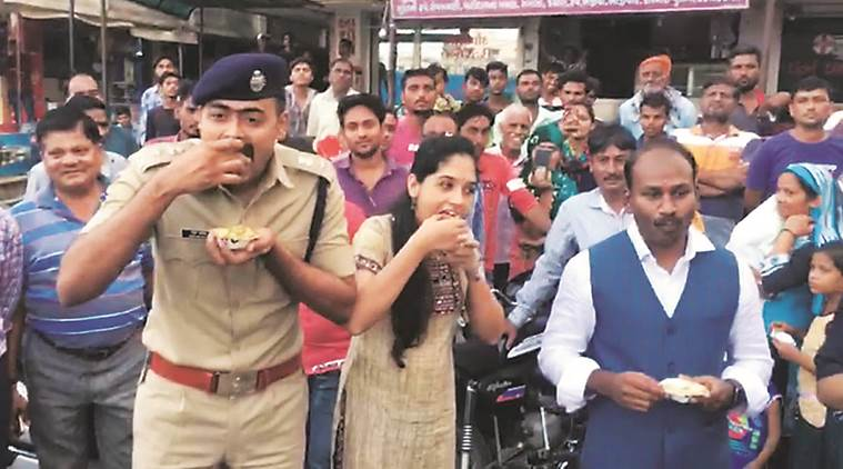 Sharing food to garba events for migrants, Gujarat officials fan out to stem exodus