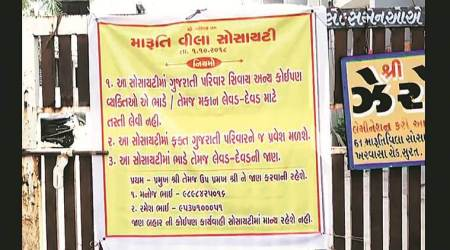 Surat residential society restricts entry to non-Gujaratis, cops stepin