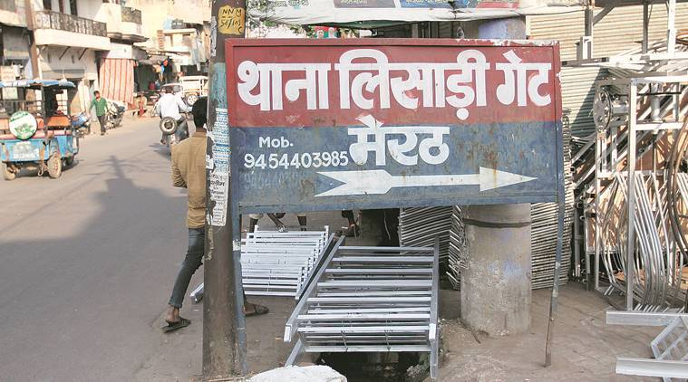 At Meerut's Lisari Gate, where police arrested three men and busted an arms racket. Gajendra Yadav