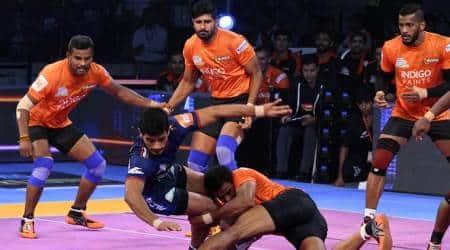 Pro Kabaddi 2018 Highlights: U Mumbai beat Haryana Steelers 53-26, Telugu Titans beat UP Yoddha34-29