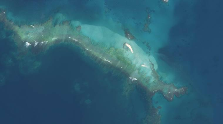 East Island in Hawaii after Hurricane Walaka nearly wiped it out.