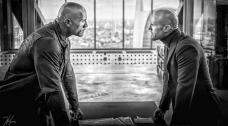 Hobbs and Shaw first look: Dwayne Johnson and Jason Statham engage in staringcontest