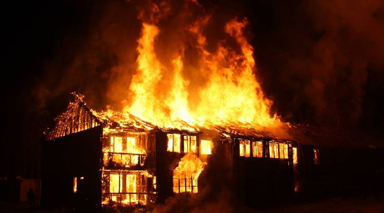 Man lights his parents' house on fire while trying to kill spiders |  Trending News,The Indian Express