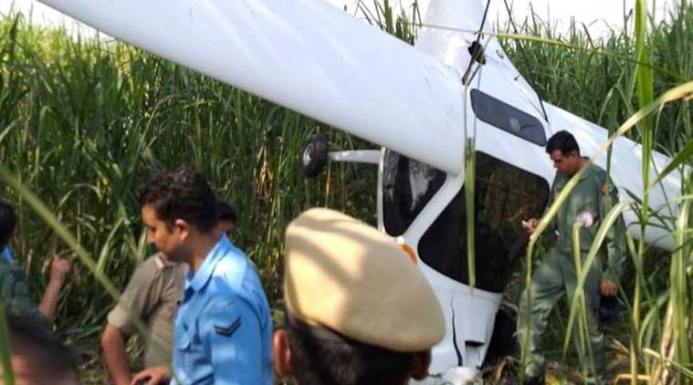 IAF's microlight aircraft crashes in UP's Baghpat, pilots eject safely